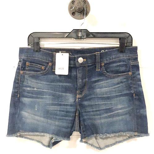 J. Crew Indigo Denim Cut Off Shorts #135-1323