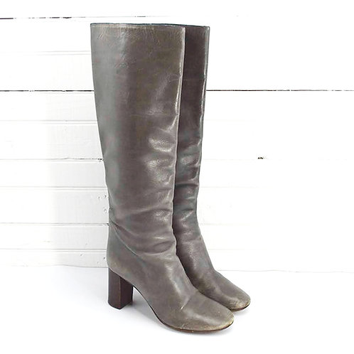 Chloé Grey Leather Boots #135-91