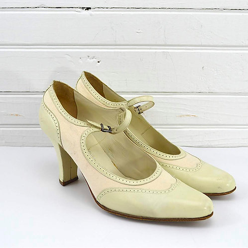Stephane K̩lian Heeled Oxford Pump #170-481