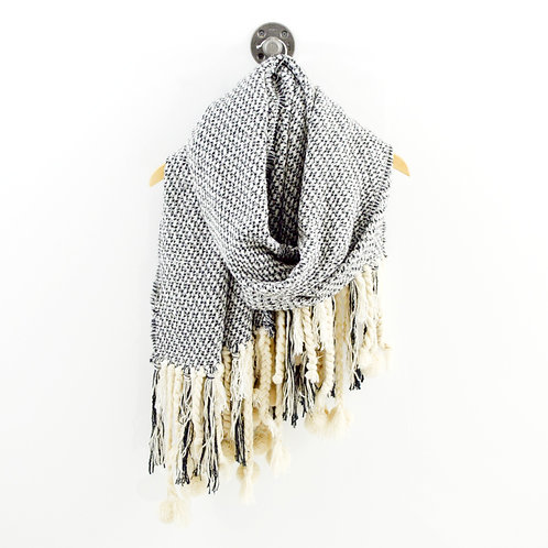 Knitted & Knotted Oversized Scarf #194-3094