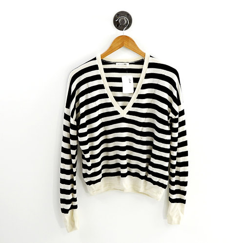 Rag & Bone/ JEAN Striped V-Neck Sweater #127-81