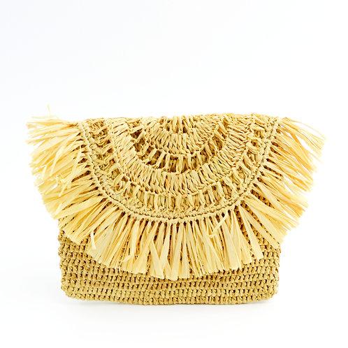 Mar Y Sol Straw Mini Clutch Bag #123-330