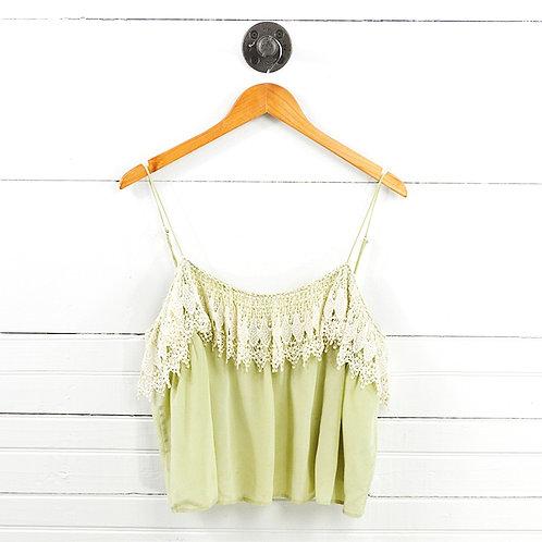 Odylyne Lace Silk Crop Top #147-21
