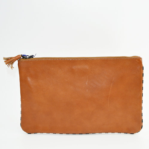 Madewell Leather Envelope Tassel Clutch Bag #123-1507