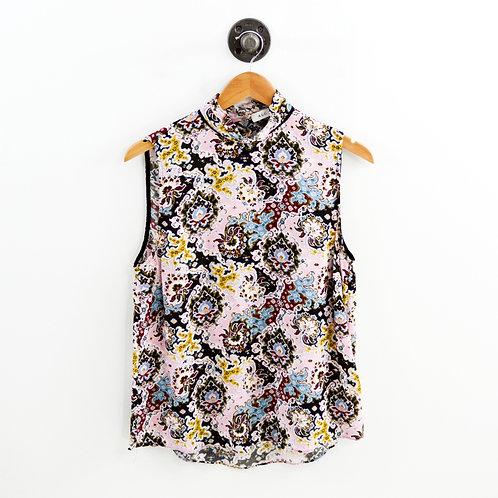 A.L.C. Floral Silk Sleeveless Blouse #126-134