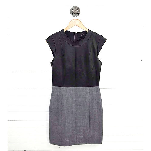 Theory 'Orinthia' Leather Top Dress #177-143