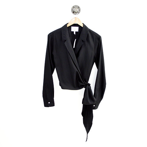 Casasola Tie Front Wrap Blouse #143-105