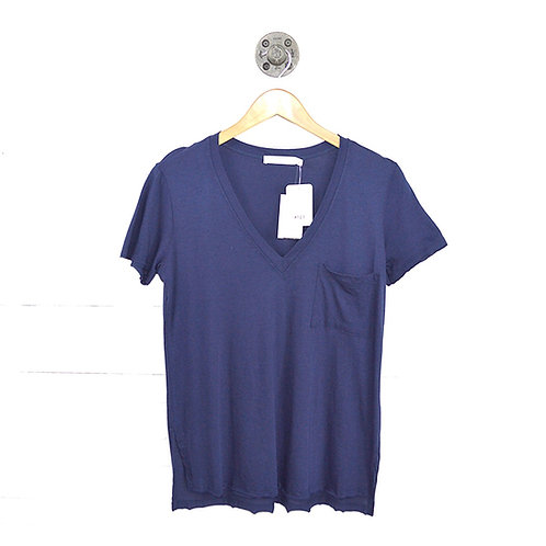 Lush Single Pocket V-Neck T-Shirt #123-1420