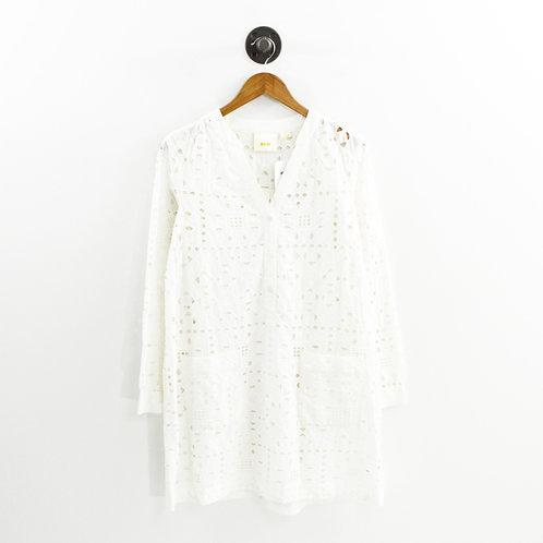 Maeve Eyelet Shirt Dress #196-12