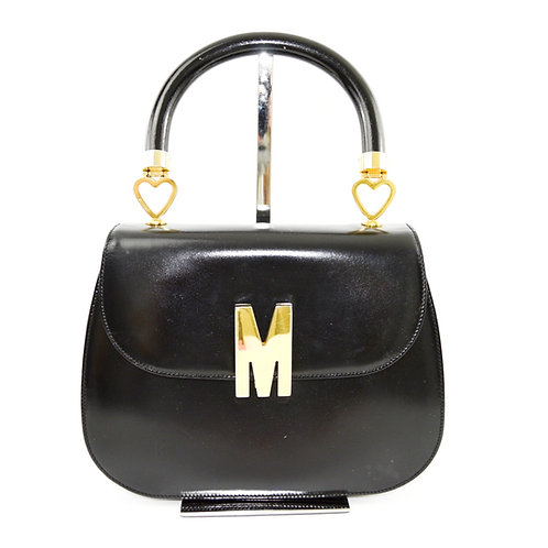 Moschino Leather Signature Top Handle Bag #175-25