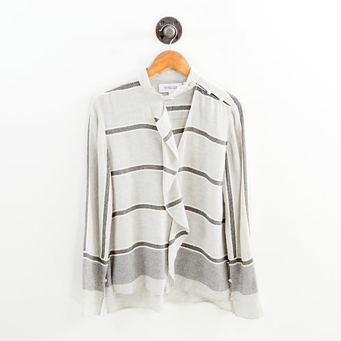 Derek Lam 10 Crosby Stripe Wool Top #126-103