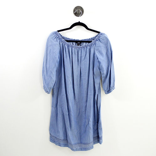 Paige Chambray Off The Shoulder Dress #189-3021