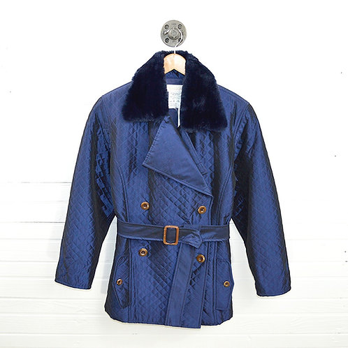 Carmelo Pomodoro Quilted Peacoat #147-2