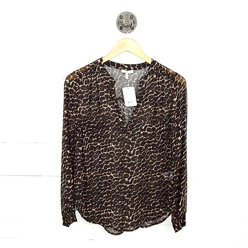 Joie Sheer Silk Leopard Print Top #186-17