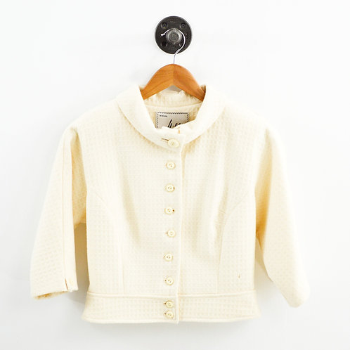 Milly Jacquard 3/4 Sleeve Blazer #195-14