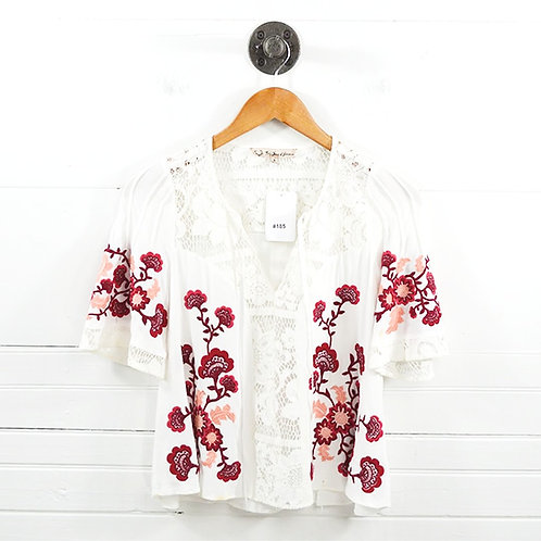 For Love & Lemons Floral Embroidered Blouse #185-31