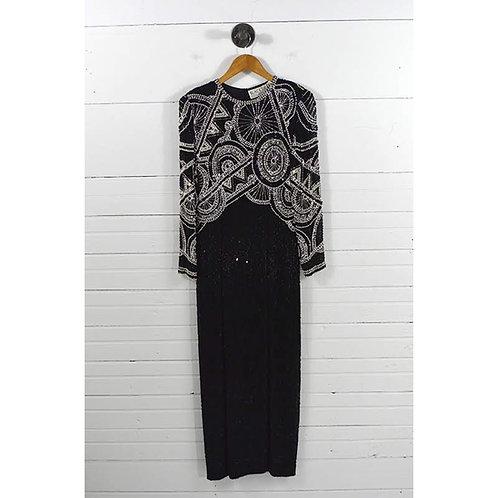 Black Tie By Oleg Cassini Beaded Gown #174-1