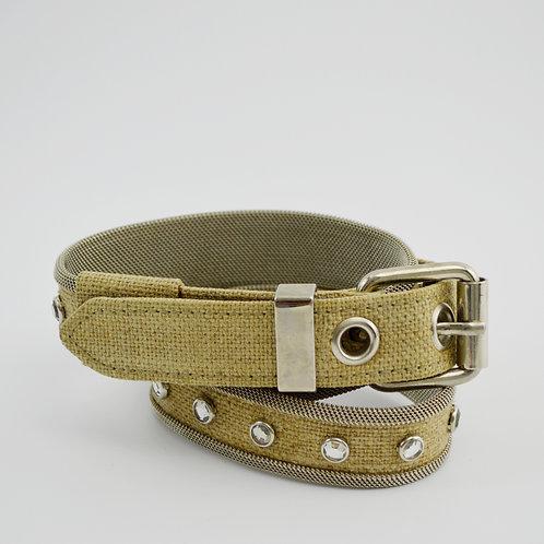 Adolf Vintage Chain Mesh/ Canvas Belt #170-3080