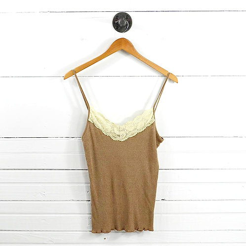 Michael Stars Lace Ribbed Tank Top #170-381