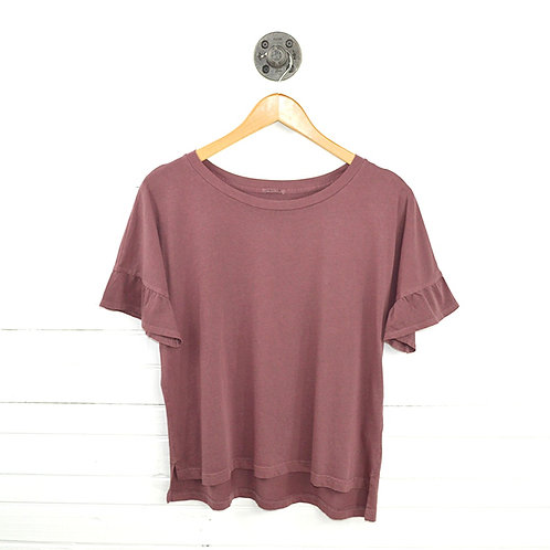 Abercrombie & Fitch Ruffle Sleeve T-Shirt #123-1035