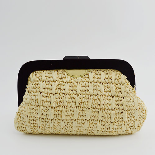 Banana Republic Woven Straw Clutch Bag #163-3066