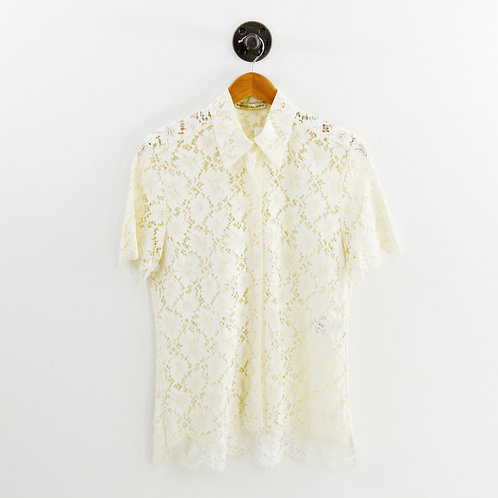 Balenciaga Lace Button Down #135-96