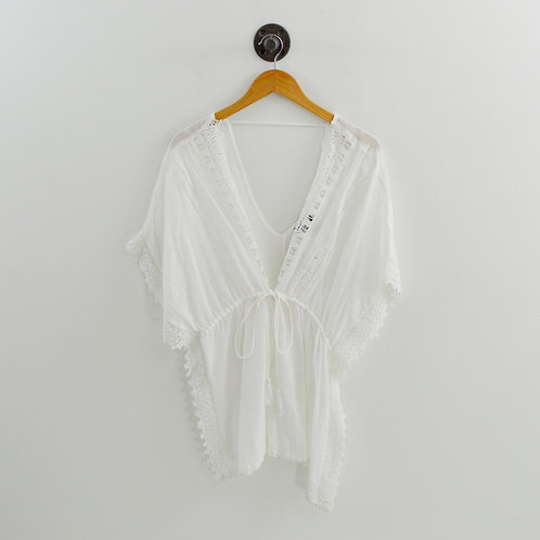 Topshop Crochet Tie Front Cover-up #123-1296