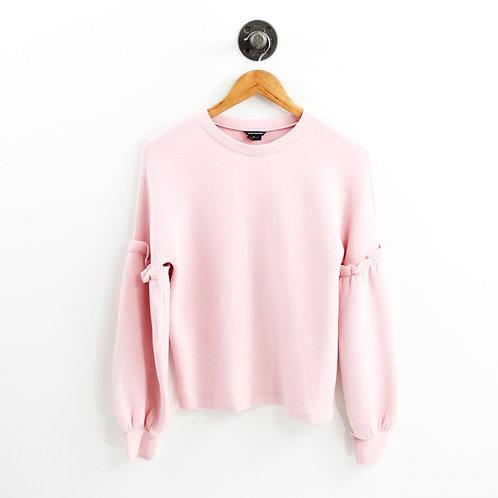 Club Monaco Ruffle Sleeve Pullover #186-121