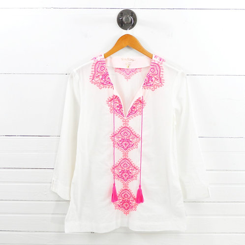 Lilly Pulitzer Embroidered Tunic Top #169-3