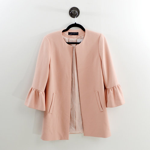 Zara Peplum Sleeve Long Blazer #169-3087