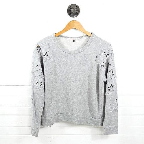Rebecca Taylor Floral Applique Sweat Shirt #186-42