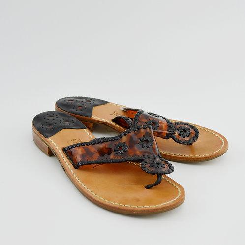 Jack Rogers Tortoise Thong Sandal #163-3073