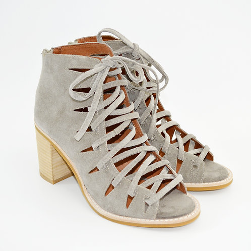 Jeffrey Campbell Corwin Taupe Suede Heels #123-332