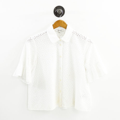 Madewell Eyelet Button Down Top #196-23