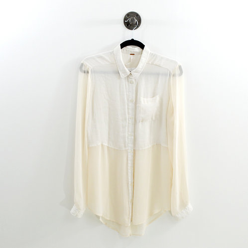 Free People Sheer Button Down Blouse #151-1137