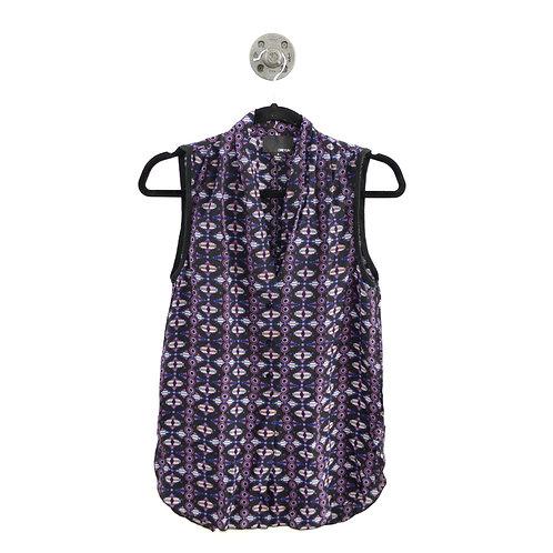 Greylin Print Button Down Blouse #100-3031