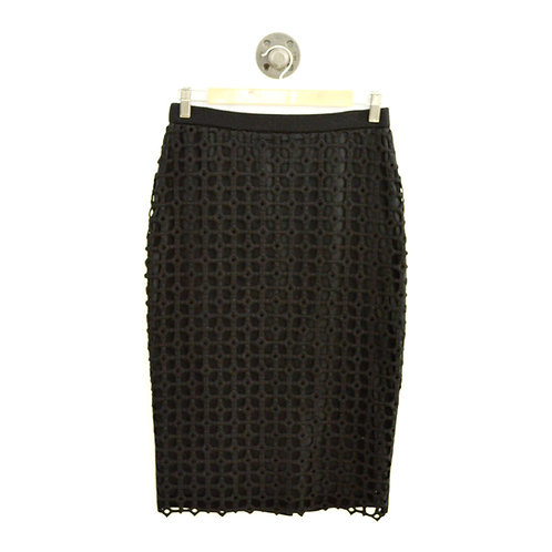Lela Rose Macrame Lace Knit Pencil Skirt #126-116