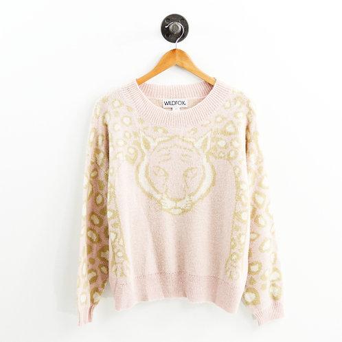 Wildfox Leopard Crew Neck Sweater #186-117