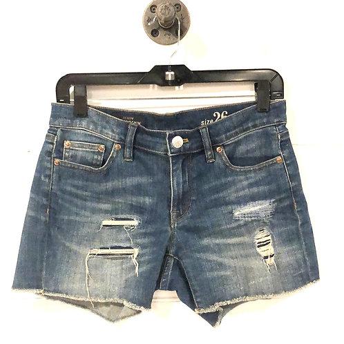 J.Crew Indigo Denim Distressed Shorts #123-1068