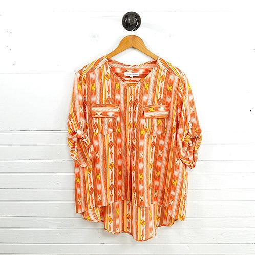Amanda Uprichard Silk Print Blouse #131-232