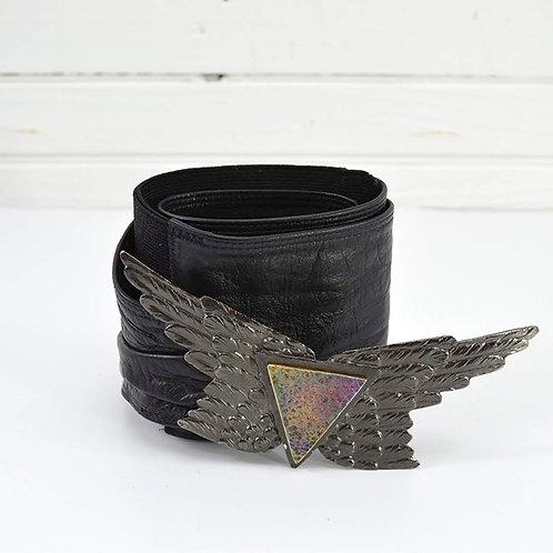 Vintage Leather Waist Belt #170-473