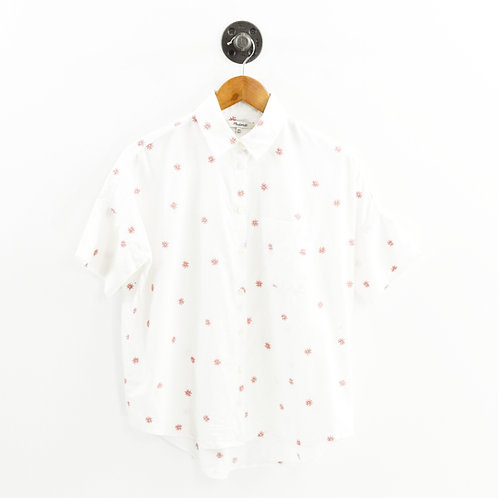 Madewell Floral Embroidered Button Down Top #196-24