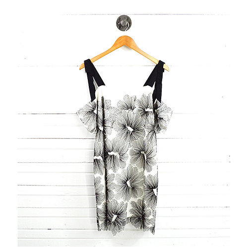 Cold Shoulder Floral Lace Dress #177-1584