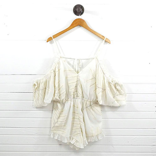 Lovers + Friends Leaf Embroidered Romper #185-56