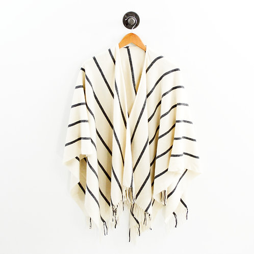 Rag & Bone Striped Merino Wool Poncho #127-89
