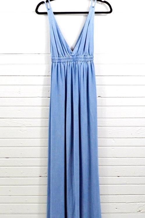 Josa Tulum Chambray Maxi Dress #135-1790