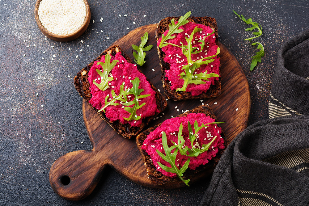 Beetroot and Hummus Dip