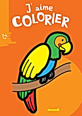 Perroquet - coloriage