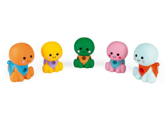 5 tortues de bain - la famille ribambelle