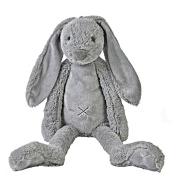 Grand lapin Richie gris clair